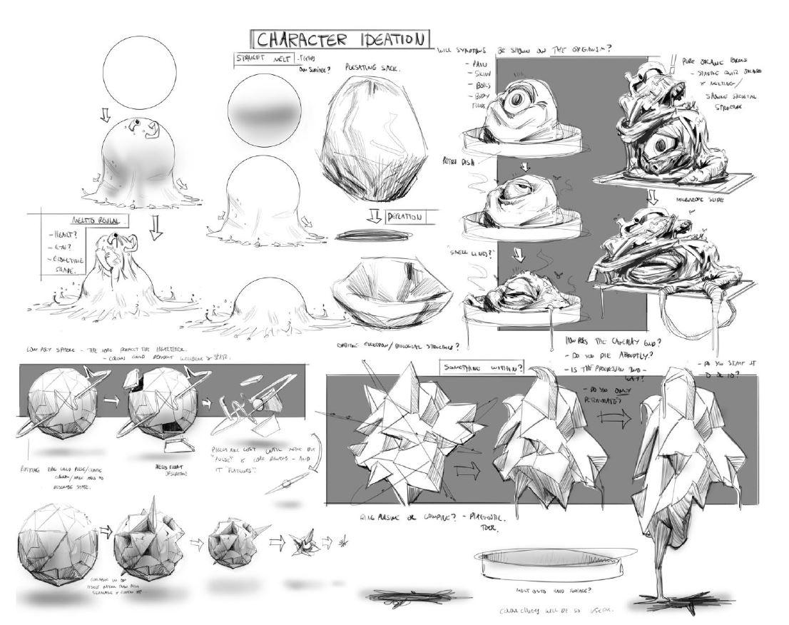 Concept designs by Aardman