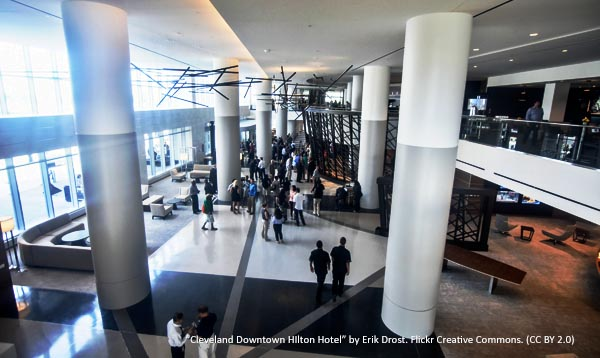 Exhibitors and Sponsors: Interior view of the HIlton Cleveland Downtown Hotel