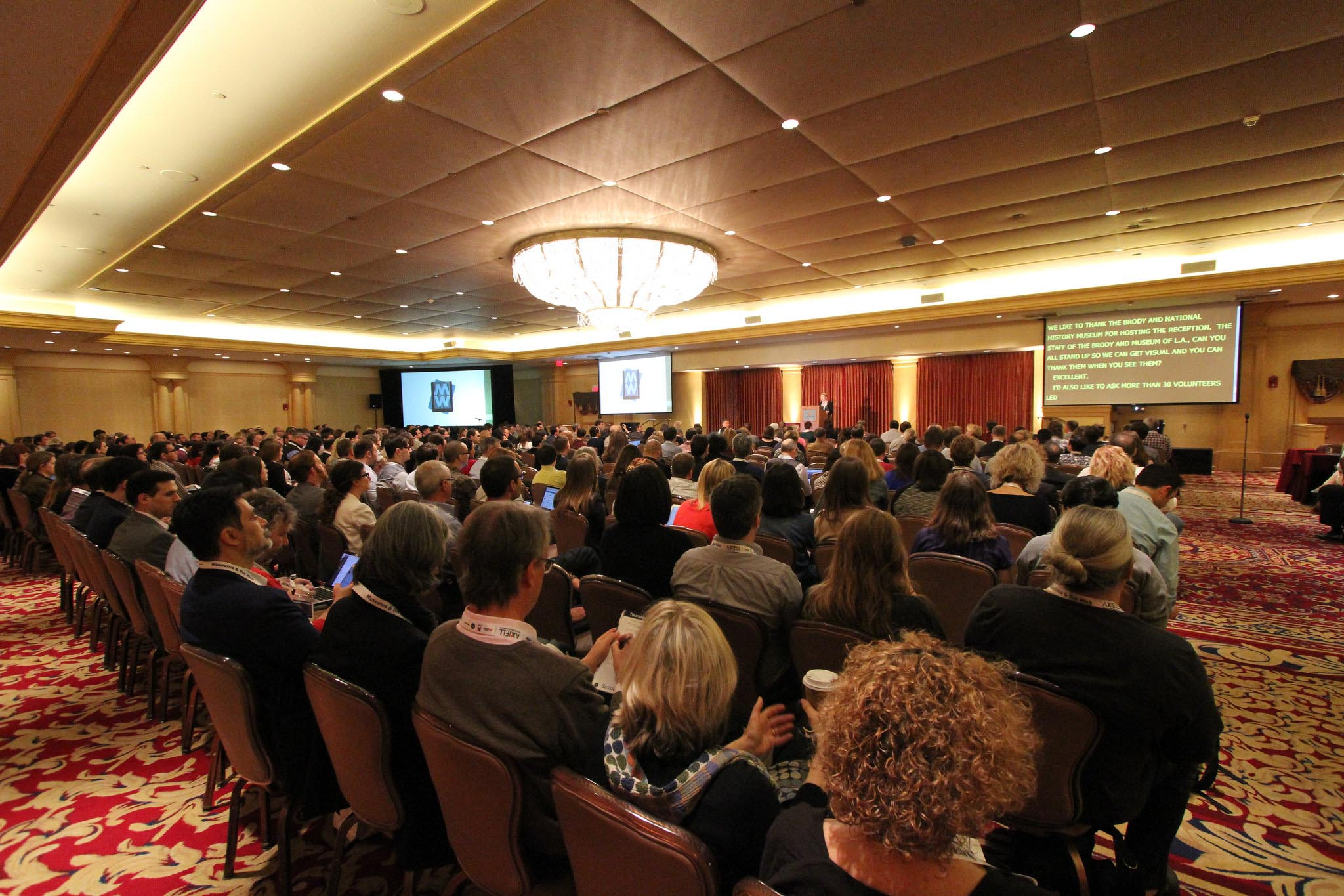 Authors and Workshop Leaders: Crowded room full of MWXX attendees in 2016.