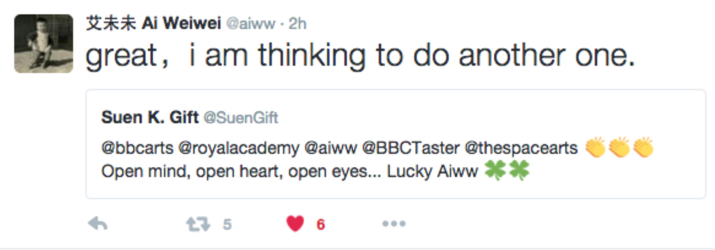 Ai Weiwei tweet